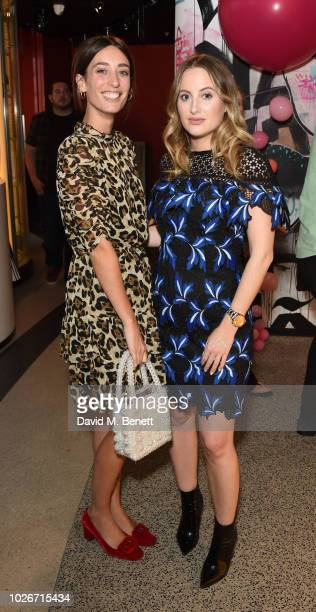 Laura Jackson and Rosie Fortescue attend the Verycouk AW18 collection preview at 110 Bishopsgate on September 4 2018 in London England