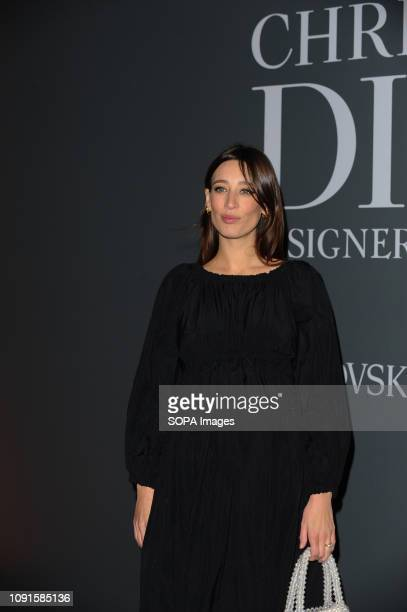 Laura Jackson attends the Christian Dior Designer of Dreams fashion exhibition supported by Swarovski at the VA Museum London