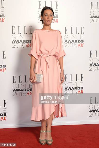 Laura Jackson attends the Elle Style Awards 2015 at Sky Garden @ The Walkie Talkie Tower on February 24 2015 in London England
