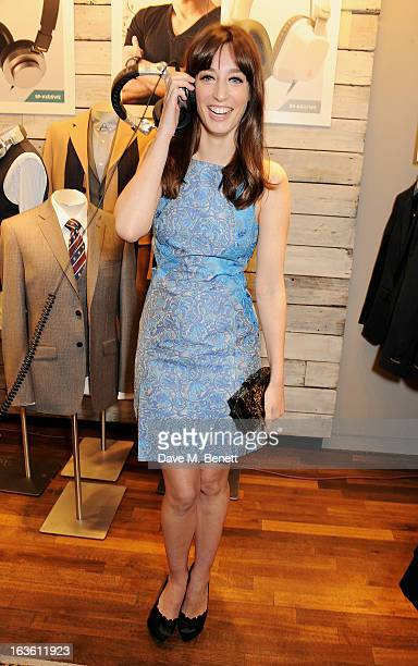 Laura Jackson attends the Panasonic Technics 'Shop To The Beat' Party hosted by George Lamb at French Connection Oxford Circus on March 13 2013 in...