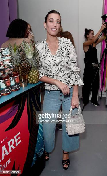 Millie Mackintosh and Laura Jackson attend the RIXO London Fashion Week After Party at 17 Floral Street on September 18 2018 in London England