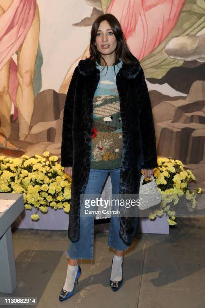 Laura Jackson attends the Shrimps show during London Fashion Week February 2019 at Ambika P3 on February 19 2019 in London England