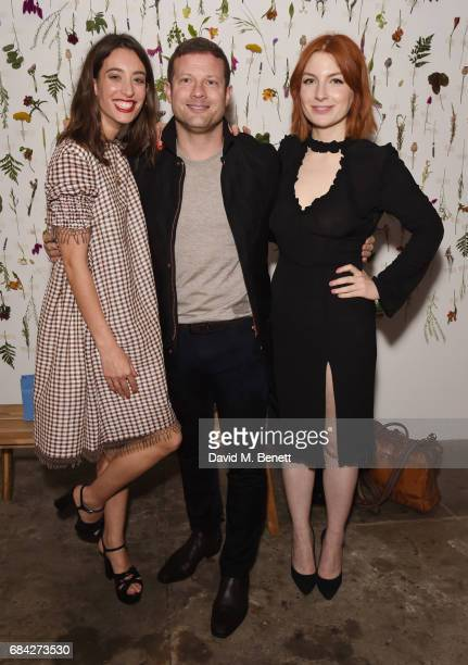 Laura Jackson Dermot O'Leary and Alice Levine attend the launch of new book 'Jackson Levine Round To Ours' by Laura Jackson and Alice Levine at...
