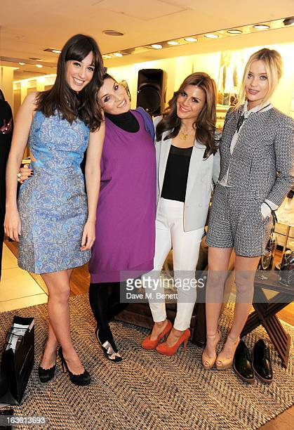Laura Jackson Grace Woodward Zoe Hardman and Laura Whitmore attend the Panasonic Technics 'Shop To The Beat' Party hosted by George Lamb at French...