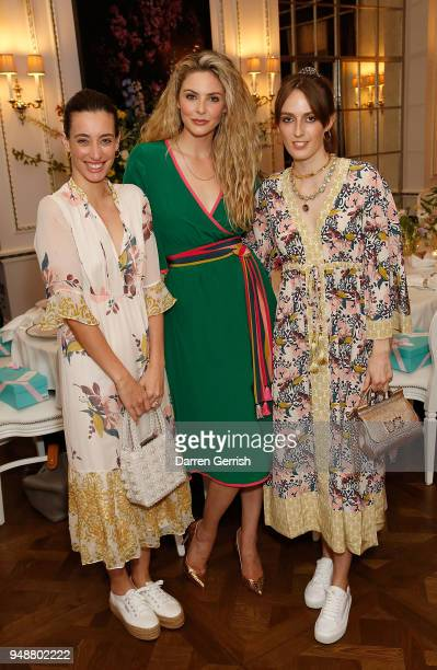 Laura Jackson Tamsin Egerton and Alice Manners attend the Boden Icons SS18 dinner at The Connaught Hotel on April 19 2018 in London England