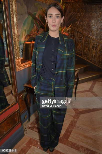 Laura Jackson wearing Paul Smith attends the Paul Smith Malgosia Bela AW18 Lunch on January 21 2018 in Paris France