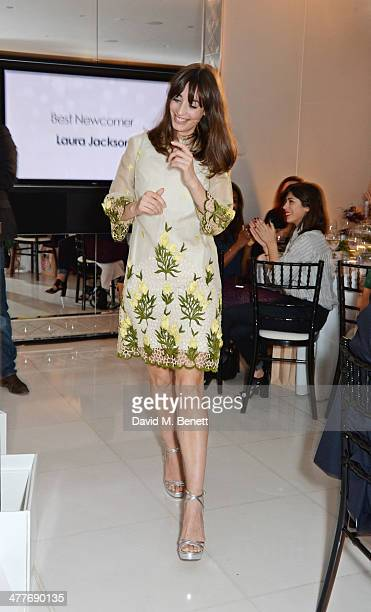 Laura Jackson winner of the Best Newcomer award attends the 5th annual Rodial Beautiful Awards to celebrate women of style beauty and elegance at St...