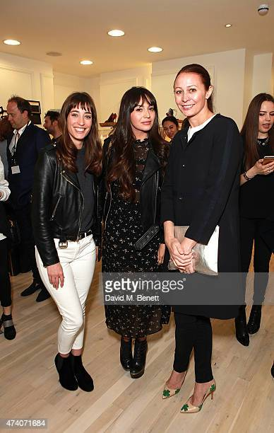 Laura Jackson Zara Martin and Caroline Rush attends the official launch of the British Designers Collective at Bicester Village on May 20 2015 in...