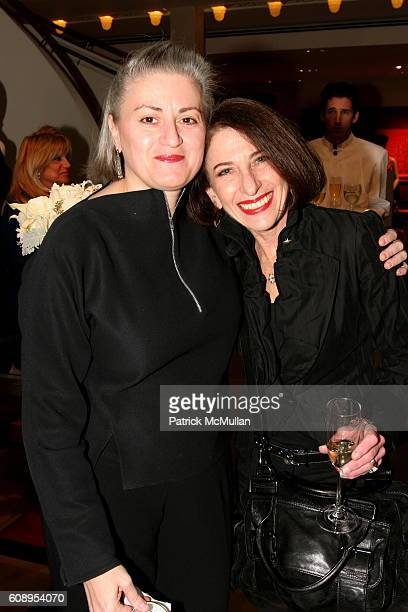 Laura Jacobs and Jackie Decter attend Hermes Cocktail Party in Honor of The 9th Annual New York Fashion Conference at Hermes on November 29 2007 in...
