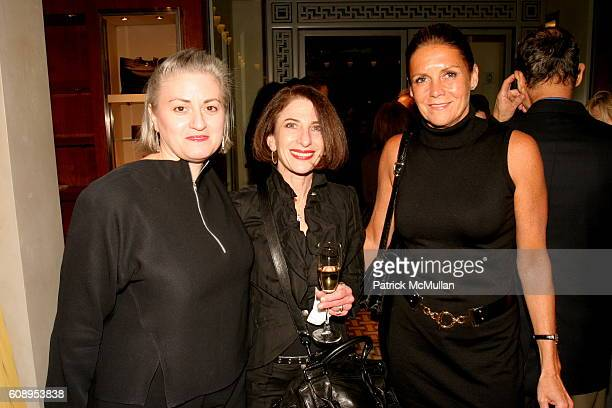 Laura Jacobs Jackie Decter and Sandra Hunter attend Hermes Cocktail Party in Honor of The 9th Annual New York Fashion Conference at Hermes on...