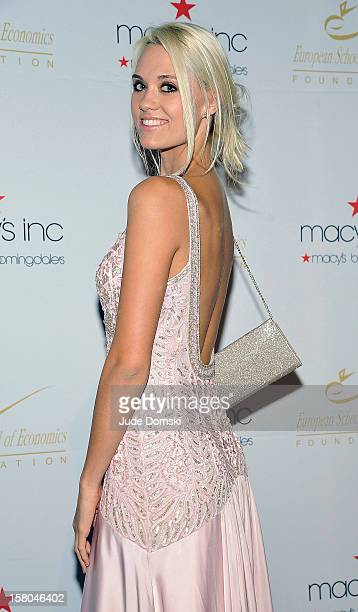 Laura James who reently won America's Next Top Model Cycle 19 attends the 2012 European School Of Economics Foundation Vision And Reality Awards at...
