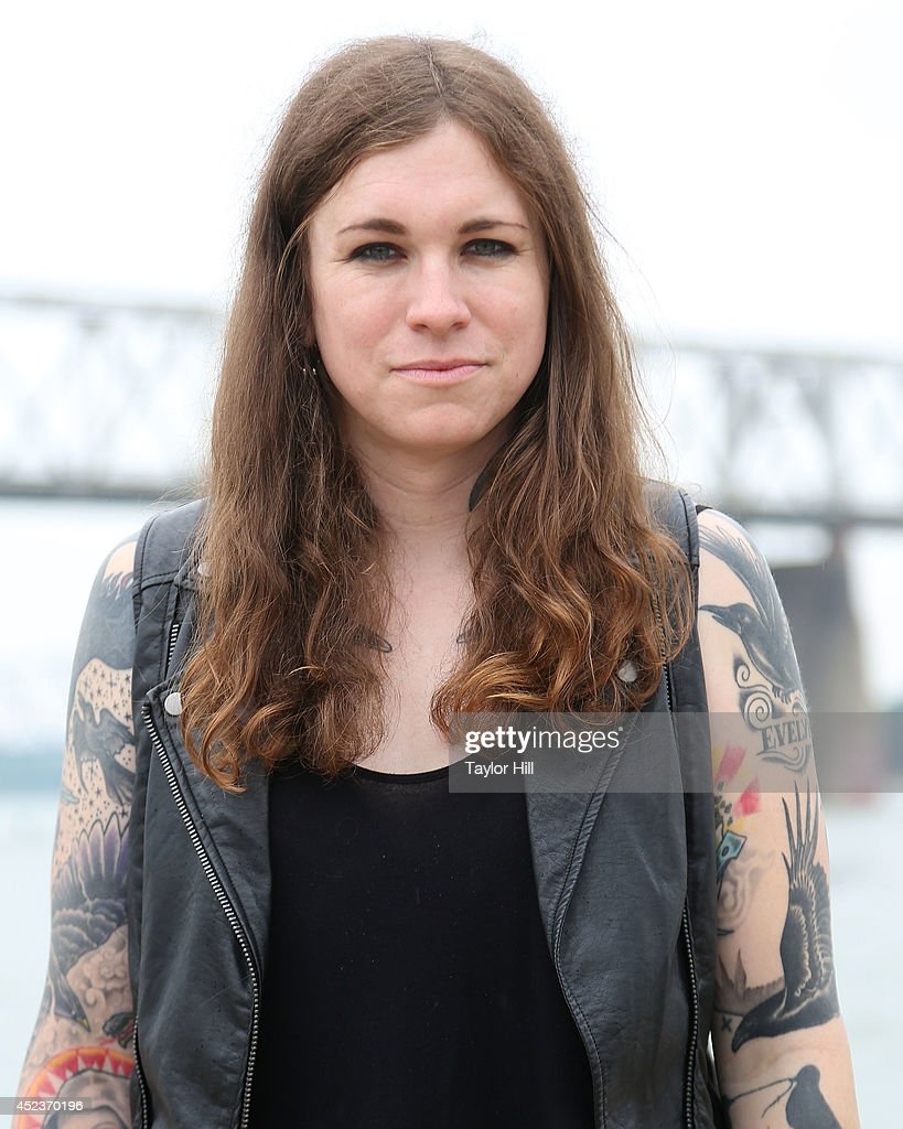 Laura Jane Grace poses for a portrait during the 2014 Forecastle Music Festival at Louisville Waterfront Park on July 18, 2014 in Louisville, Kentucky.