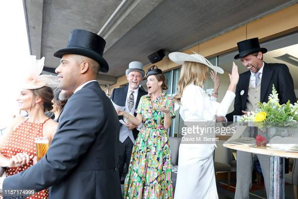 Laura Johnson Glen Johnson Hubert Zandberg Claire Forlani Abbey Clancy and Peter Crouch on day 3 of Royal Ascot at Ascot Racecourse on June 20 2019...