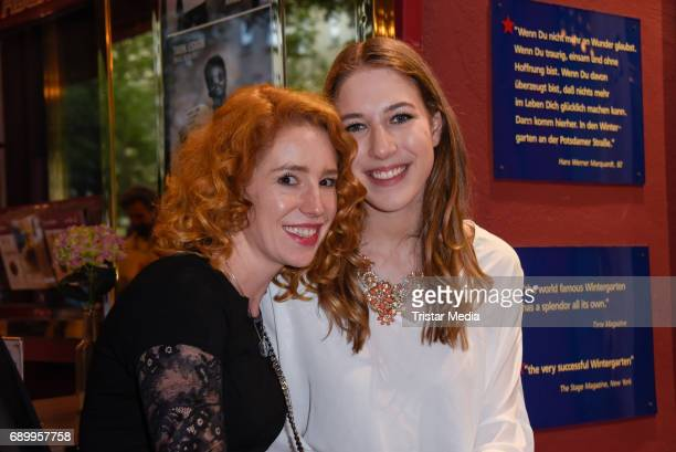 Laura Kaefer and Alana Siegel during the Ralph Siegel musical 'Zeppelin' performance in Berlin at Wintergarten on May 29 2017 in Berlin Germany