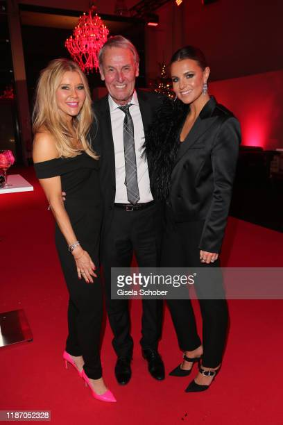 Laura Karasek Joerg Wontorra and his daughter Laura Wontorra during the Ein Herz Fuer Kinder Gala at Studio Berlin Adlershof on December 7 2019 in...