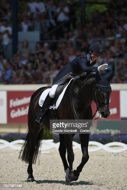 Laura Kasey PerryGlass of United States of America riding Goerklintgaards Dublet during the dressage individual Final Grand Prix of Aachen Freestyle...
