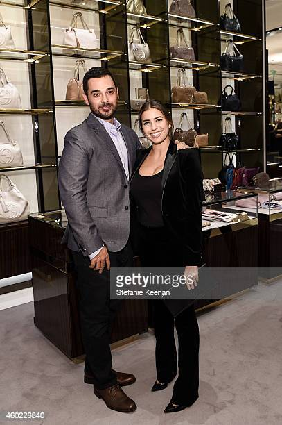 Laura Katzenberg and Katie Nehra attend Gucci Hosts Private Cocktail Party To Benefit GLSEN at Gucci Los Angeles on December 9 2014 in Los Angeles...