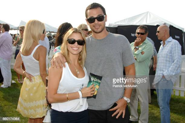 Laura Katzenberg and Mark Sudack attend popchips at the MercedesBenz Polo Challenge at Two Trees Farm on July 18 2009 in Bridgehampton New York