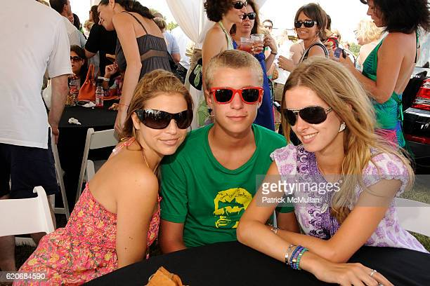 Laura Katzenberg Conrad Hilton and Nicky Hilton attend TMOBILE SIDEKICK Lounge at the MERCEDESBENZ Bridgehampton Polo Challenge Hosted by CHACE...