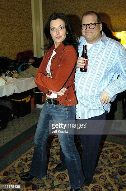 Laura Kightlinger and Drew Carey during The 10th Annual US Comedy Arts Festival Late Night with Drew Carey Friends at St Regis Hotel Ballroom in...