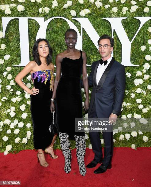 Laura Kim Alek Wek and Fernando Garcia attend the 2017 Tony Awards at Radio City Music Hall on June 11 2017 in New York City