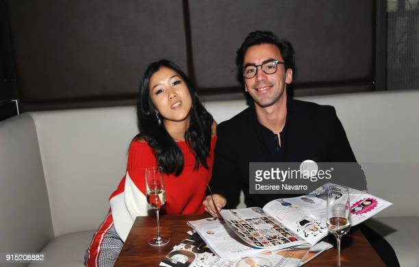 Laura Kim and Fernando Garcia attend Daily Front Row's 15th Anniversary Celebration on February 6 2018 in New York City