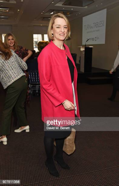 Laura Kuenssberg attends Turn The Tables 2018 hosted by Tania Bryer and James Landale in aid of Cancer Research UK at BAFTA on March 5, 2018 in...