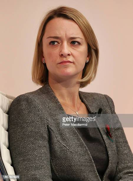 Laura Kuenssberg Business Editor of ITN news hosts a discussion at The Confederation of British Industry annual conference on November 4, 2013 in...