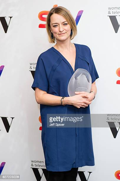 Laura Kuenssberg winner of the News and Factual Award at the Sky Women In Film & TV Awards at London Hilton on December 2, 2016 in London, England.