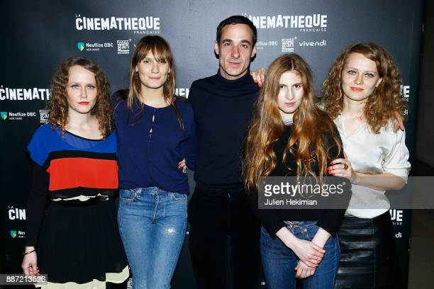 Laura Laperrousaz Ana Girardot Clement Roussier Agathe Bonitzer and Clara Laperrousaz attend 'Soleil Battant' Paris Premiere at Cinematheque...