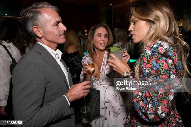 Laura Lapitino and Erica Pelosini Leeman attend La Mer x Nina Garcia Regenerating Serum Dinner at The Times Square EDITION on September 12, 2019 in...