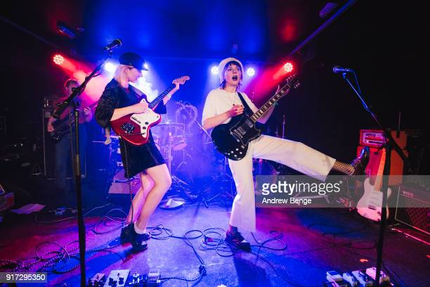 Laura Lee and Andreya Casablanca of Gurr perform at The Wardrobe on February 10, 2018 in Leeds, England.