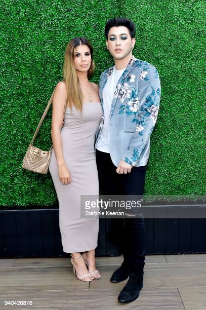 Laura Lee and Manny MUA attend KKWxMario Dinner at JeanGeorges Beverly Hills on March 31 2018 in Beverly Hills California