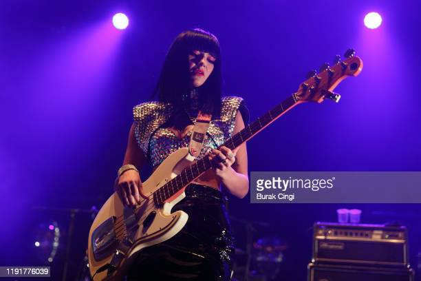 Laura Lee of Khruangbin performs at O2 Academy Brixton on December 03, 2019 in London, England.