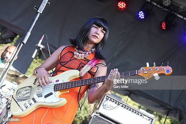 Laura Lee of Khruangbin performs in concert during the Austin City Limits Music Festival at Zilker Park on October 7 2016 in Austin Texas