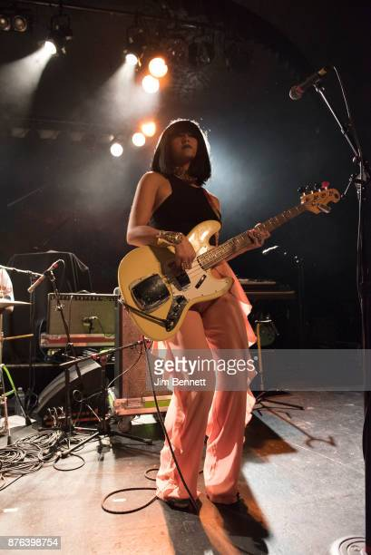 Laura Lee of Khruangbin performs live on stage at The Showbox on November 18 2017 in Seattle Washington