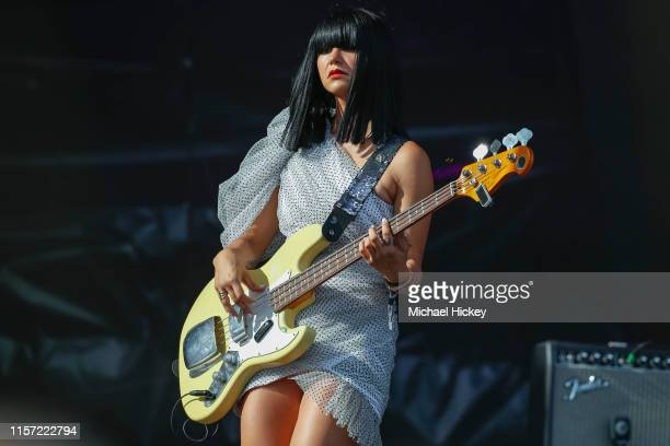 Laura Lee of Khruangbin performs on day three of the Pitchfork Music Festival at Union Park on July 21 2019 in Chicago Illinois