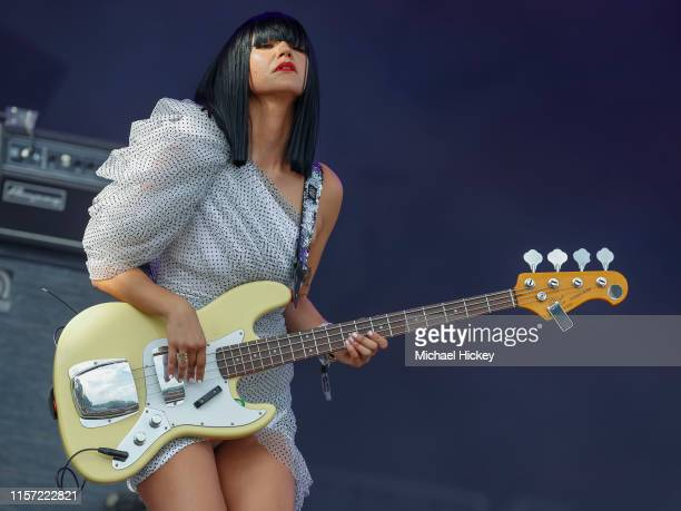 Laura Lee of Khruangbin performs on day three of the Pitchfork Music Festival at Union Park on July 21, 2019 in Chicago, Illinois.