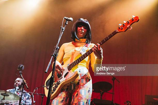 Laura Lee of Khruangbin performs on stage at O2 Academy Leeds on May 11 2016 in Leeds England