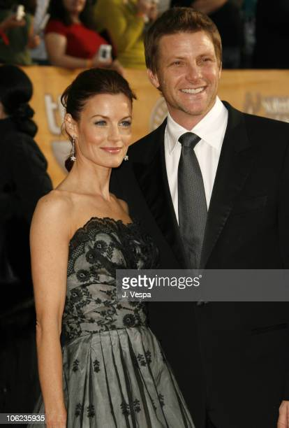 Laura Leighton and Doug Savant during 13th Annual Screen Actors Guild Awards Arrivals at Shrine Auditorium in Los Angeles California United States