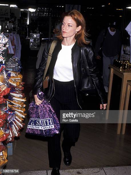 Laura Leighton during Laura Leighton Sighting at Los Angeles International Airport April 28 1995 at Los Angeles International Airport in Los Angeles...
