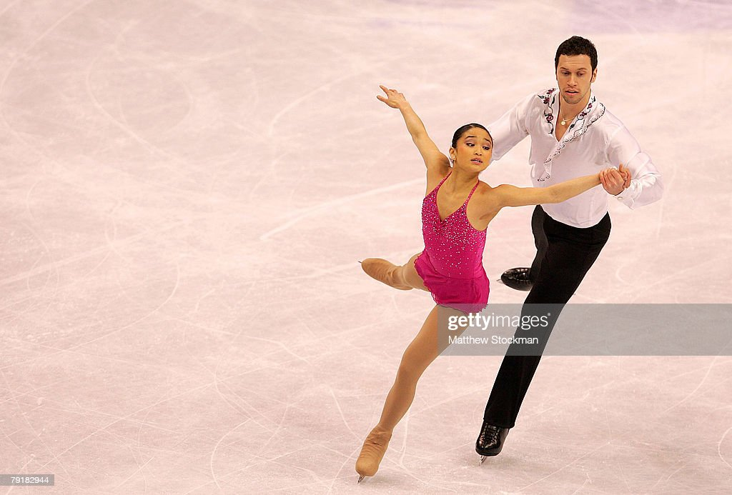 Laura Lepzinski and Ethan Burgess compete in the pairs short program during the US Figure Skating Championships January 23, 2008 at the Xcel Energy Center in St Paul, Minnesota.