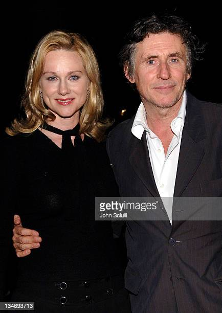 Laura Linney and Gabriel Byrne during 31st Annual Toronto International Film Festival 'Jindabyne' Premiere Red Carpet in Toronto Ontario Canada