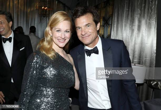 Laura Linney and Jason Bateman attend the 2019 Netflix Primetime Emmy Awards After Party at Milk Studios on September 22, 2019 in Los Angeles,...
