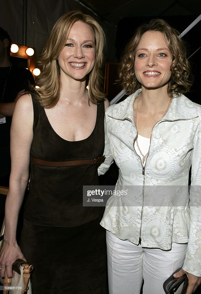 Laura Linney and Jodie Foster during The 20th Annual IFP Independent Spirit Awards - Green Room in Santa Monica, California, United States.