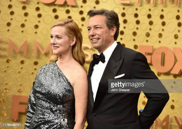 Laura Linney and Marc Schauer attend the 71st Emmy Awards at Microsoft Theater on September 22 2019 in Los Angeles California