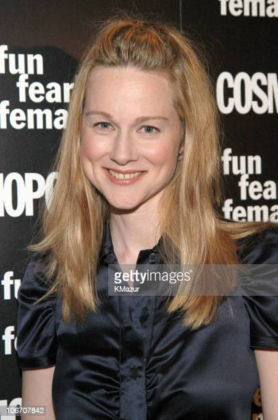 Laura Linney during Cosmopolitan's 'Fun Fearless Female' Awards at Cipriani's in New York City New York United States