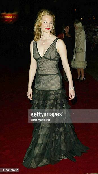 Laura Linney during 'Love Actually' London Premiere Arrivals at The Odeon Leicester Square in London United Kingdom