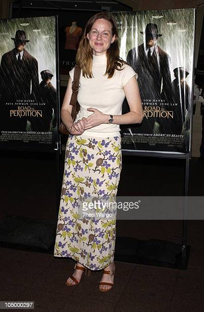 """Laura Linney during """"Road to Perdition"""" New York Premiere - After Party at Grand Central Station in New York City, New York, United States."""