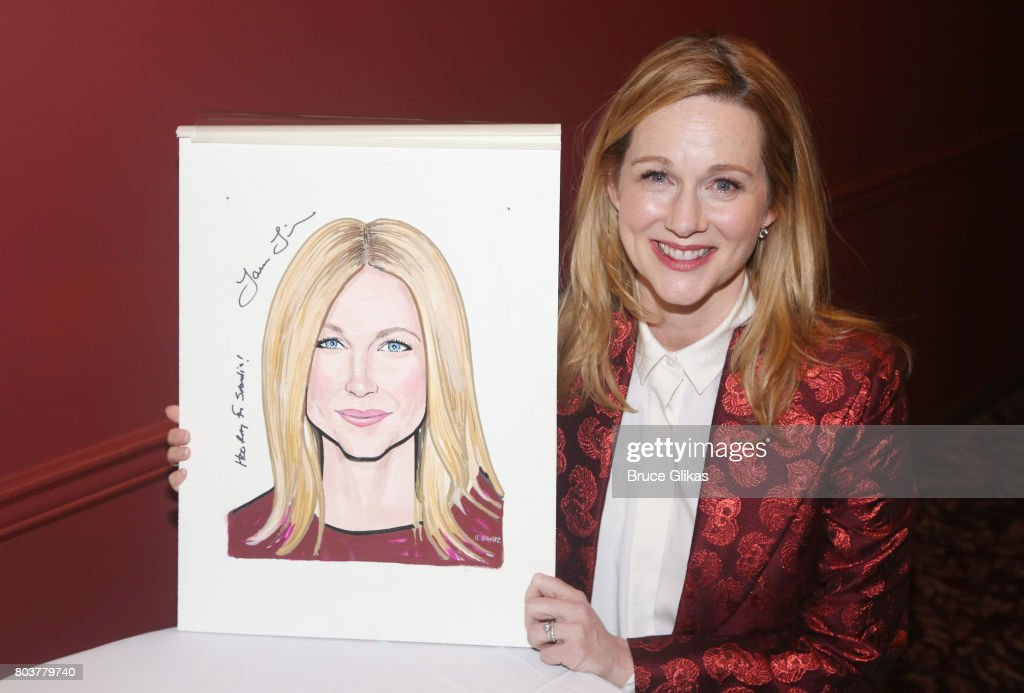 Laura Linney gets honored for her performance in 'Lillian Hellman's The Little Foxes' on Broadway with a caricature portrait at Sardis on June 29, 2017 in New York City.